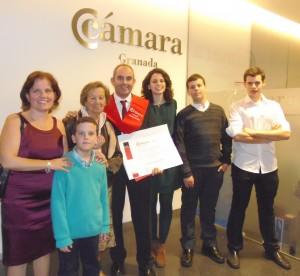 Entrega de Diploma y Beca en Cámara de Comercio de Granada