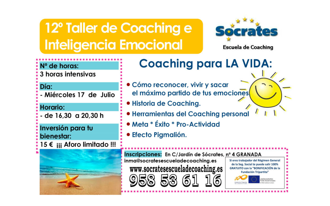 Taller 12º: Coaching para la Vida. 17 Julio 2013
