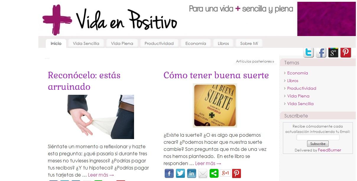 Vida en positivo