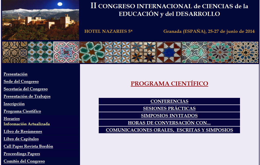 II Congreso Internacional de Ciencias de la Educación y el Desarrollo