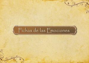 Fichas de las Emociones.Portada