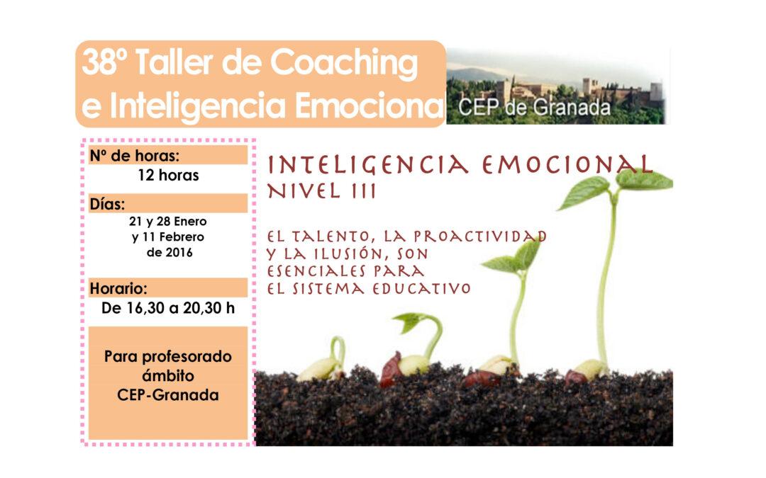 Taller 38º: Inteligencia Emocional en la Práctica Educativa. Nivel III.