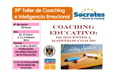 """Taller 39º: De docentes a maestros-coachs. Facultad Ciencias Educación  """"La Inmaculada"""" UGR"""